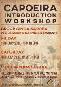 Flyer - Auroville Workshop July 2016